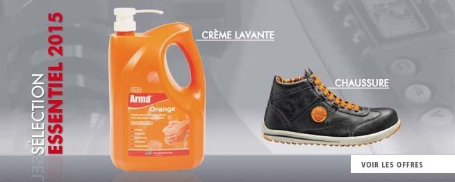 Crème lavante et Chaussure