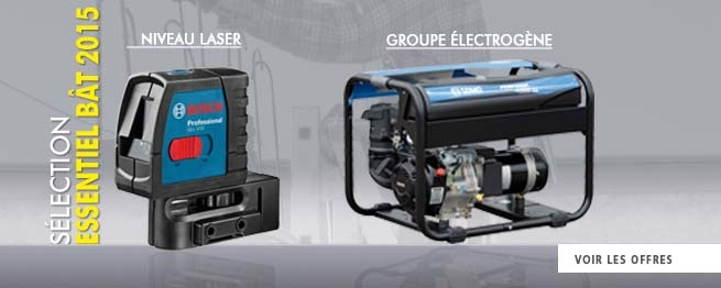 Niveau laser et Groupe électrogene